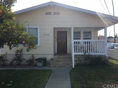 Lomita Single Family Home Active Under Contract: 24605 Eshelman Avenue