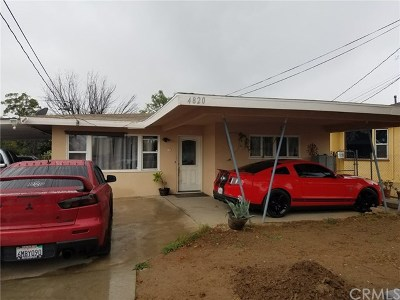 Riverside Single Family Home For Sale: 4820 Mitchell Avenue