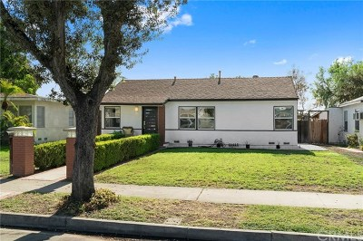 Fullerton Single Family Home For Sale: 1132 Williamson Avenue