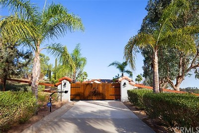 Murrieta Single Family Home For Sale: 39510 Avenida Bonita
