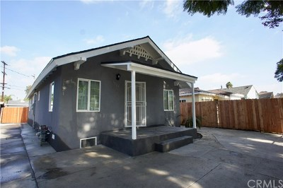 Los Angeles Multi Family Home For Sale: 1519 E 89th Street
