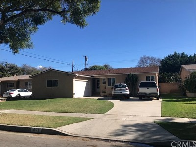 Fullerton Single Family Home Active Under Contract: 406 S Lambert