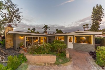 Corona Del Mar Single Family Home For Sale: 1600 Santanella Terrace
