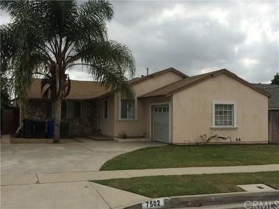 Whittier Single Family Home For Sale: 7502 Halray Avenue