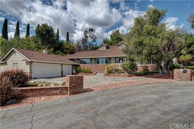 La Habra Heights Single Family Home For Sale: 2181 Choral Drive