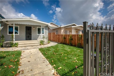 Los Angeles Single Family Home For Sale: 801 E 112th Street