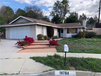 Rowland Heights Single Family Home Active Under Contract: 18784 Alderbury Drive