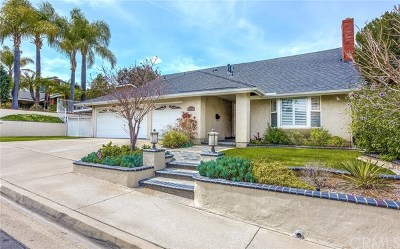 Yorba Linda CA Single Family Home For Sale: $868,000