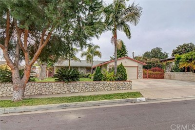 La Habra Single Family Home For Sale: 1121 Urell Drive #A