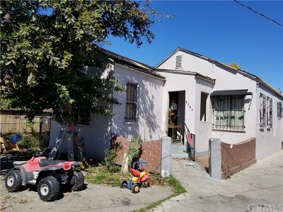 Los Angeles Single Family Home For Sale: 1815 E 109th Place