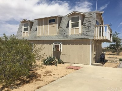 Joshua Tree Single Family Home For Sale: 4777 Sun Kist Road