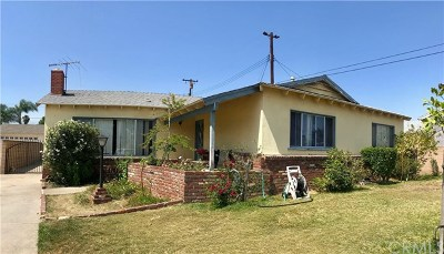 Covina Single Family Home Active Under Contract: 1341 E Tudor