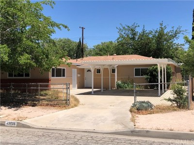 Lancaster Single Family Home For Sale: 43728 Hardwood Avenue