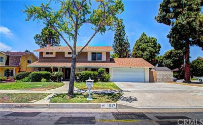 Fullerton Single Family Home For Sale: 1517 Sunset Lane