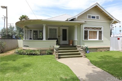 Santa Ana Single Family Home Active Under Contract: 1820 N Bush Street