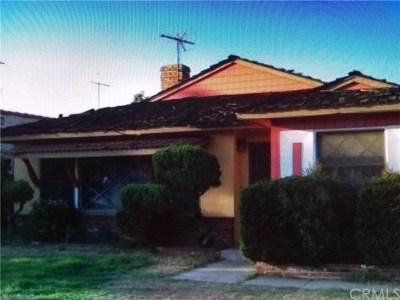 Huntington Park Single Family Home Active Under Contract: 3353 Olive Street