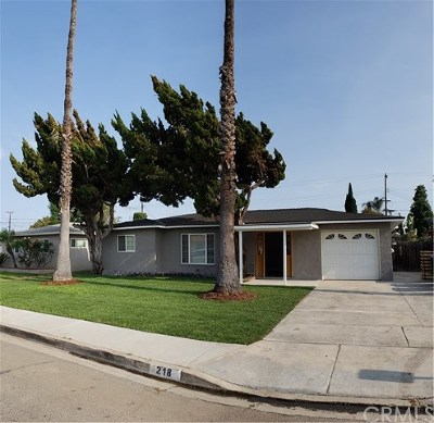 Anaheim Single Family Home For Sale: 218 W Cliffwood Avenue
