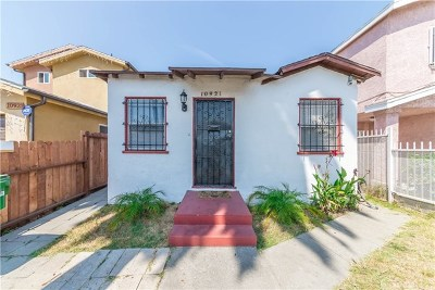 Los Angeles Single Family Home For Sale: 10921 Grape Street