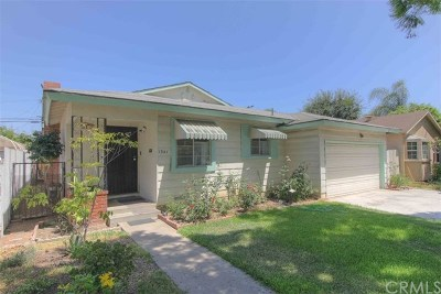 Santa Ana Single Family Home Active Under Contract: 1341 S Olive Street