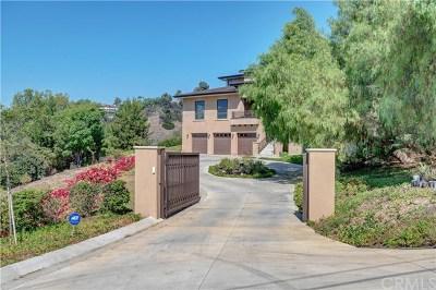 La Habra Heights Single Family Home For Sale: 2185 Papaya Drive