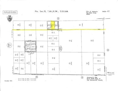 Adelanto CA Residential Lots & Land For Sale: $40,000