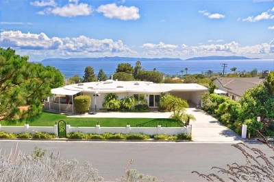 Rancho Palos Verdes Single Family Home For Sale: 6150 Arrowroot Lane