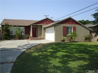 Downey Single Family Home For Sale: 7324 Hannon Street