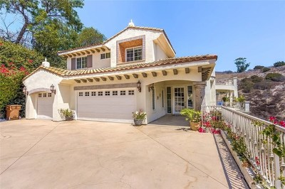 La Habra Heights Single Family Home For Sale: 1121 Pinto Drive