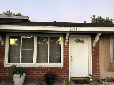 Costa Mesa Single Family Home Active Under Contract: 2238 Continental Avenue