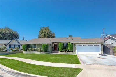Tustin Single Family Home For Sale: 1902 Burnt Mill Road