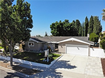 Placentia Single Family Home For Sale: 1843 Hamer Drive