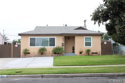 Gardena Single Family Home For Sale: 709 W 141st Street