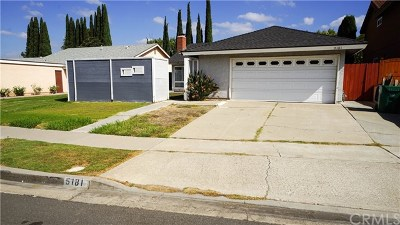 Irvine Single Family Home For Sale: 5181 Doanoke Avenue