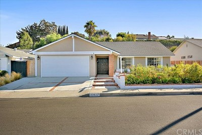 Mission Viejo Single Family Home For Sale: 23622 Coronel Drive