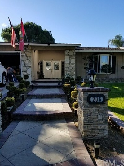 Fullerton Single Family Home For Sale: 206 Lido Place