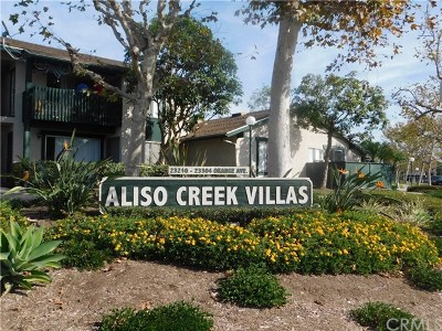 Lake Forest Condo/Townhouse For Sale: 23290 Orange Avenue #4
