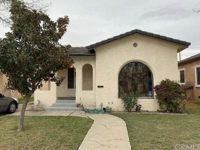Long Beach Single Family Home Active Under Contract: 1525 E Poinsettia Street