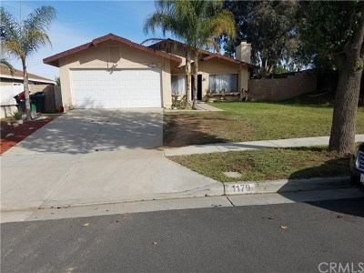 Corona Single Family Home For Sale: 1179 Blossom Hill Drive