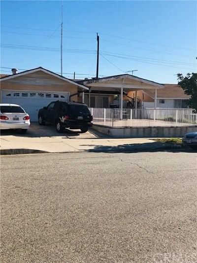 La Puente Single Family Home For Sale: 358 Hallrich Street