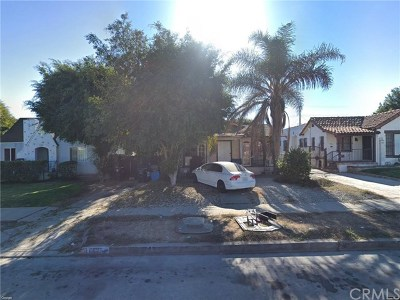 Los Angeles Single Family Home For Sale: 1612 W 85th Street