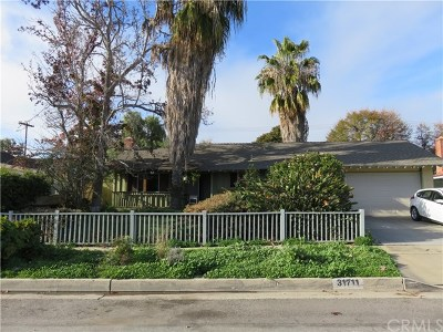 Orange County Single Family Home Active Under Contract: 31711 Via Madonna