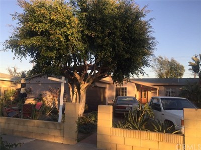 Santa Ana Single Family Home Active Under Contract: 1819 S Golden West Avenue