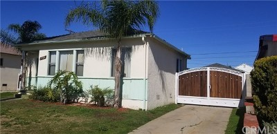 Compton Single Family Home For Sale: 1709 W Palmer Street