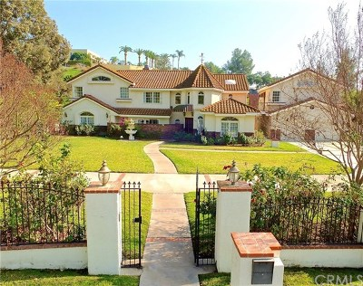 La Habra Heights Single Family Home Active Under Contract: 1410 Peppertree Drive