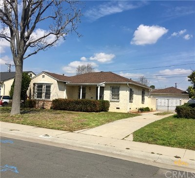 Whittier Single Family Home For Sale: 10551 Floral Drive