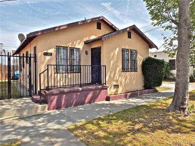 Los Angeles Single Family Home For Sale: 6212 S Budlong Avenue