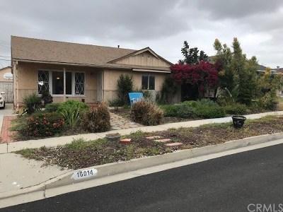 La Mirada Single Family Home For Sale: 16014 Orsa Drive