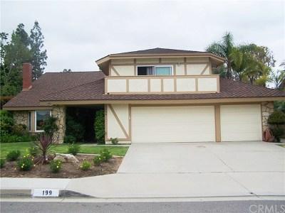 Anaheim Hills Rental For Rent: 199 S Woodrose Court