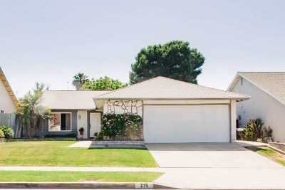 Anaheim Single Family Home For Sale: 215 N Sagamore Street