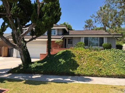 Fullerton Single Family Home Active Under Contract: 1649 Canyon Drive